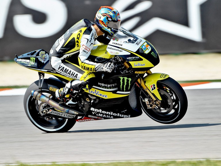 Colin Edwards in action at Misano