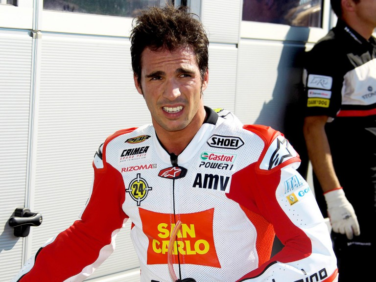 Toni Elias after QP in Misano