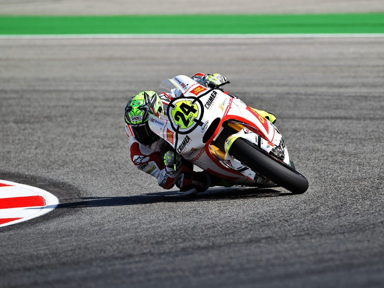 Toni Elias in action at Misano