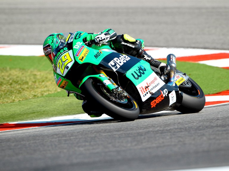 Andrea Iannone in action at Misano