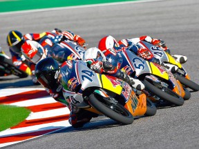 Red Bull Rookies Cup group in action at Misano