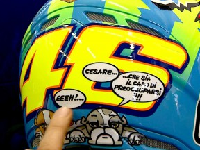 Valentino Rossi unveils special helmet design for home GP