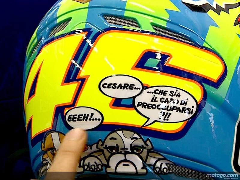 Valentino Rossi Helmet Design. Valentino Rossi unveils