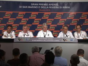 Race direction press conference on Tomizawa's accident