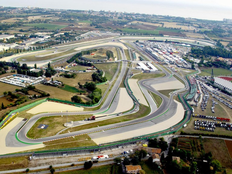 Aerial view of Misano Circuit