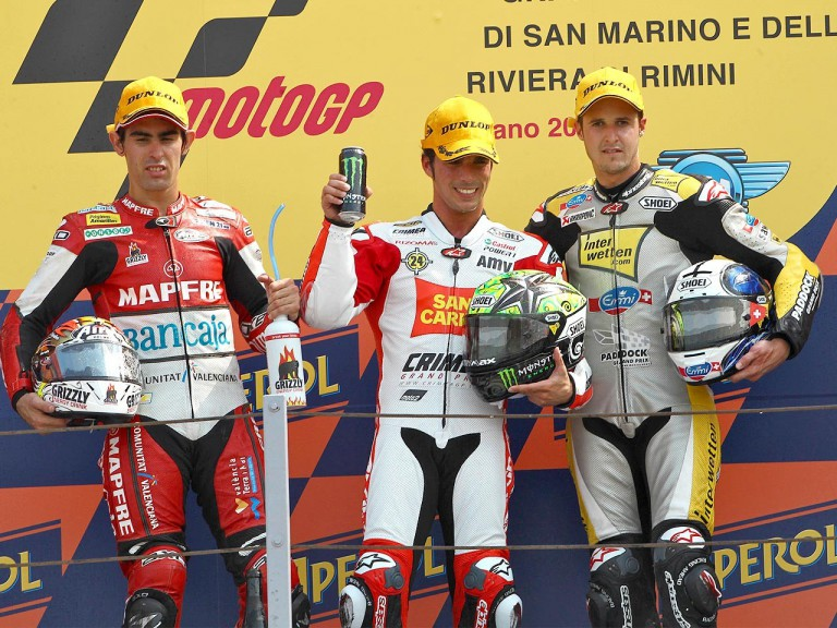 Simón, Elías and Luthi on the podium at Misano
