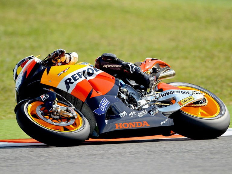 Dani Pedrosa in action at Misano