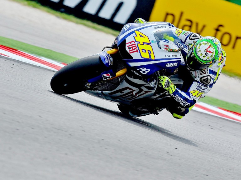 Valentino Rossi in action at Misano