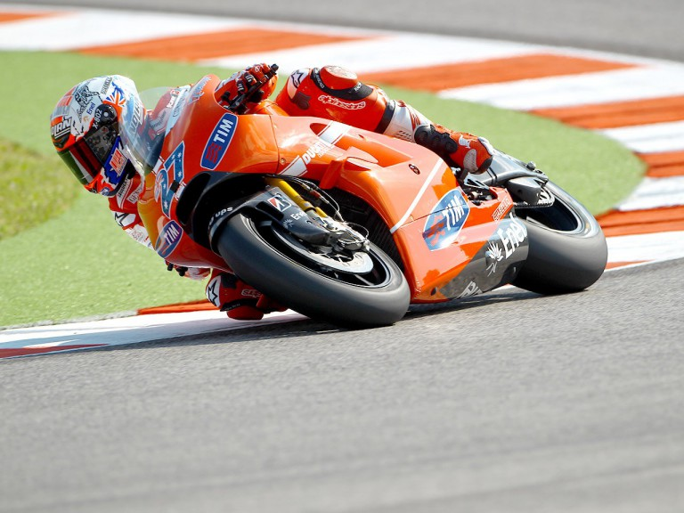 Casey Stoner in action at Misano