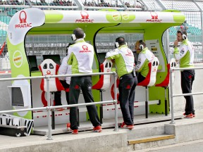 Pramac Staff at the pit wall