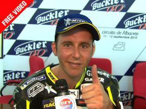 2010 - CEV Buckler - Round 2 - Albacete - Moto2 - Interview - Carmelo Morales