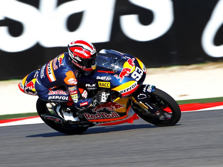 Red Bull Ajo Motorsport 125cc rider Marc Márquez in action