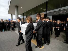 Shoya Tomizawa's funeral in Asahi, Japan