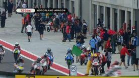 El piloto del Bancaja Aspar ha sido el más rápido en la primera sesión de 125cc, afectada en gran medida por la lluvia.