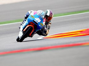 Pol Espargaró in action at Motorland Aragón