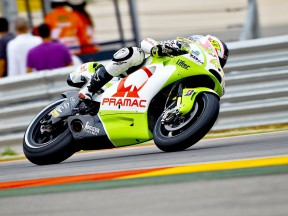 Aleix Espargaró in action at Motorland Aragón