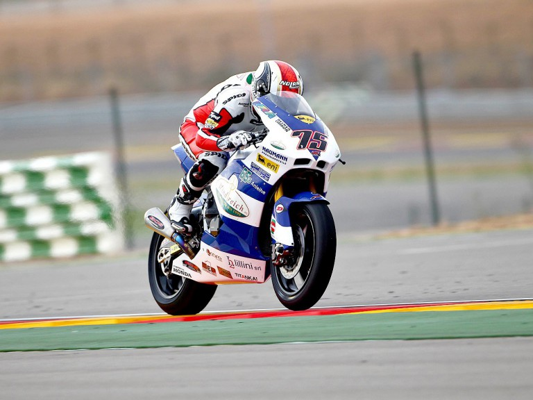 Mattia Pasini in action at Motorland Aragón