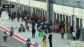 El piloto del Fimmco Speed Up ha liderado la tercera y última tanda libre del GP A-Style de Aragón, disputada en seco. Coghlan y Elías, muy cerca del italiano.