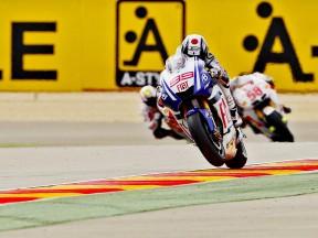 Jorge Lorenzo in action at Motorland Aragón