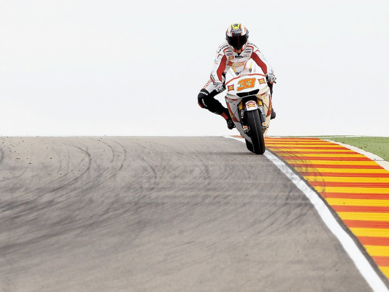 Marco Melandri in action at Motorland Aragón