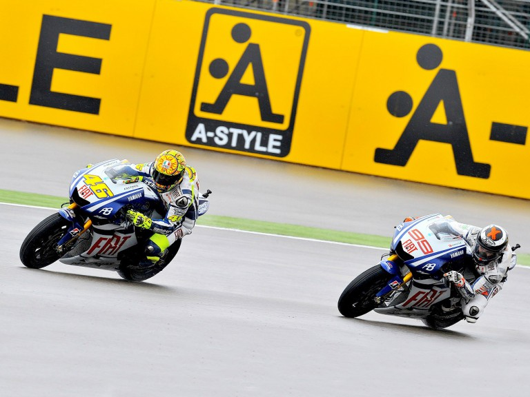 Fiat Yamaha riders Rossi and Lorenzo