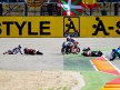 125cc Crash during the race at Motorland Aragón