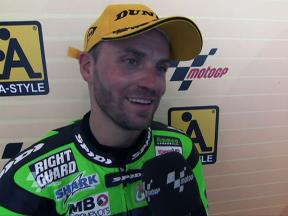 Talmacsi joy at first Moto2 podium