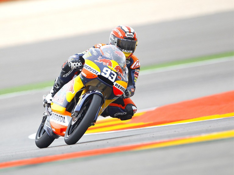 Marc Marquez in action at Motorland Aragón
