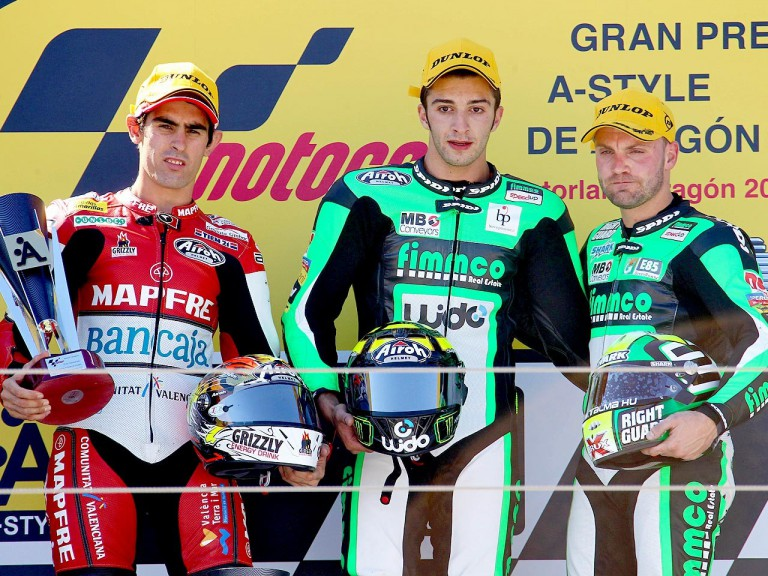 Simón, Iannone and Talmacsi on the podium at Motorland Aragón