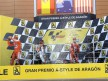 Hayden, Pedrosa and Stoner celebrate GP win at Motorland Aragón