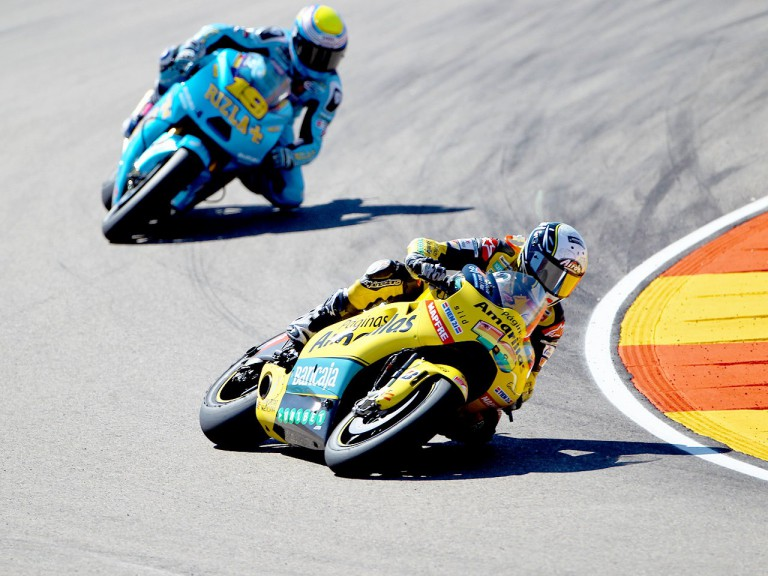 Barberá riding ahead of Bautista at Motorland Aragón