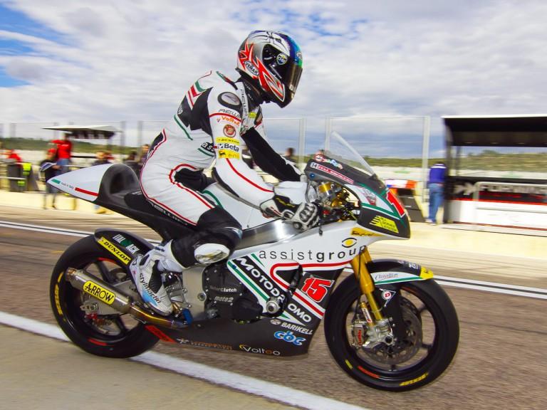 Alex Deangelis in action in the Valencia test