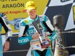 Bradley Smith on the podium at Motorland Aragón