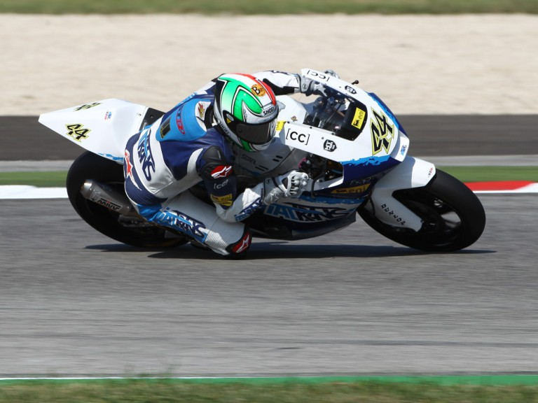 Roberto Rolfo in action at the San Marino GP