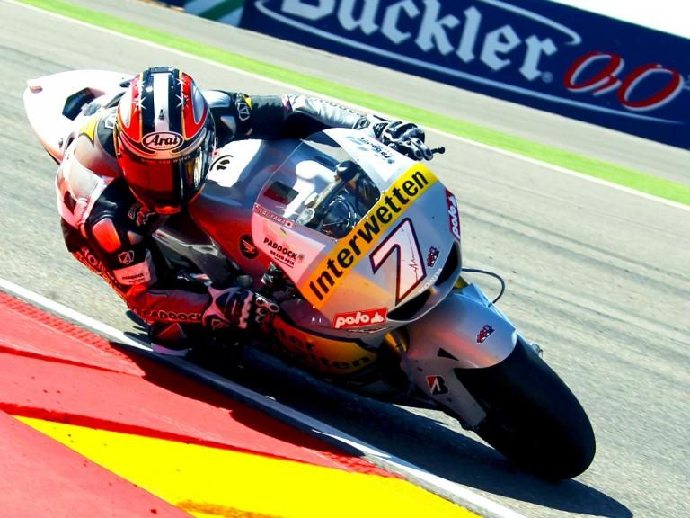 Hiroshi Aoyama in action at Motorland Aragon