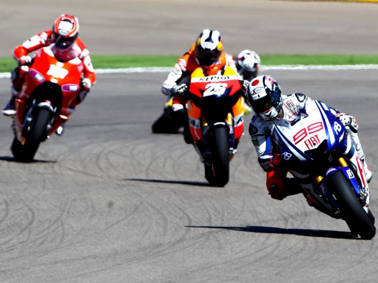 MotoGP group in action at Motorland Aragon