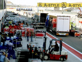 MotoGP paddock logistical operations