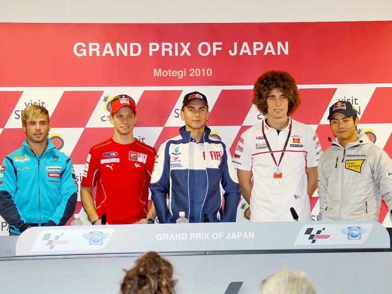 MotoGP riders at the Gran Prix of Japan press conference