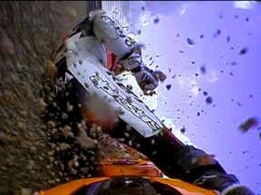 Dani Pedrosa crashes during FP1 at Motegi