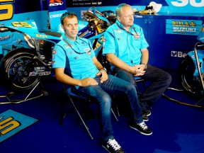 Loris Capirossi and crew chief Stuart Shenton