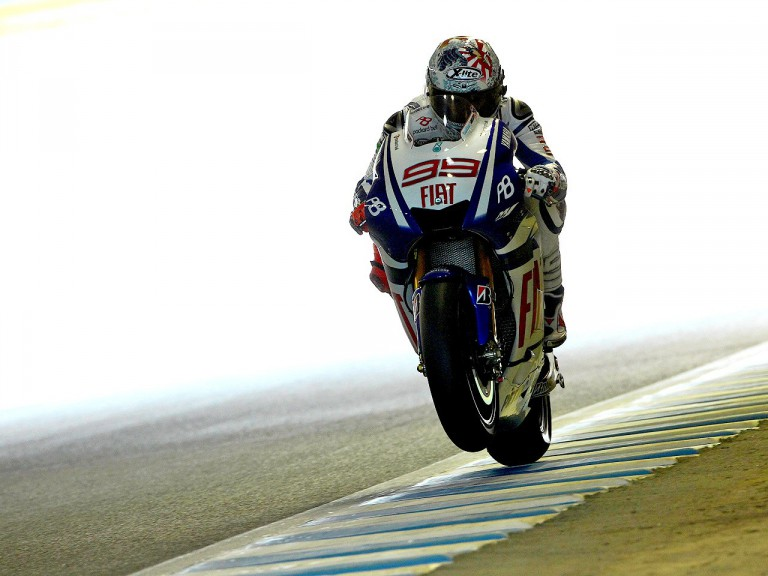 Jorge Lorenzo in action at Motegi