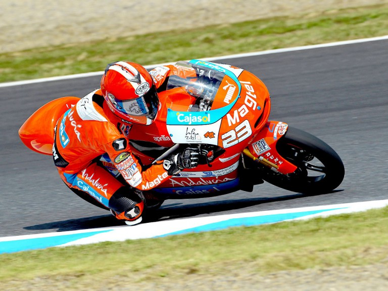Alberto Moncayo in action at Motegi