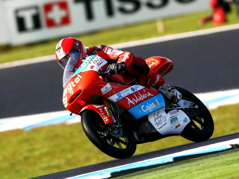 Moncayo in action at Phillip Island