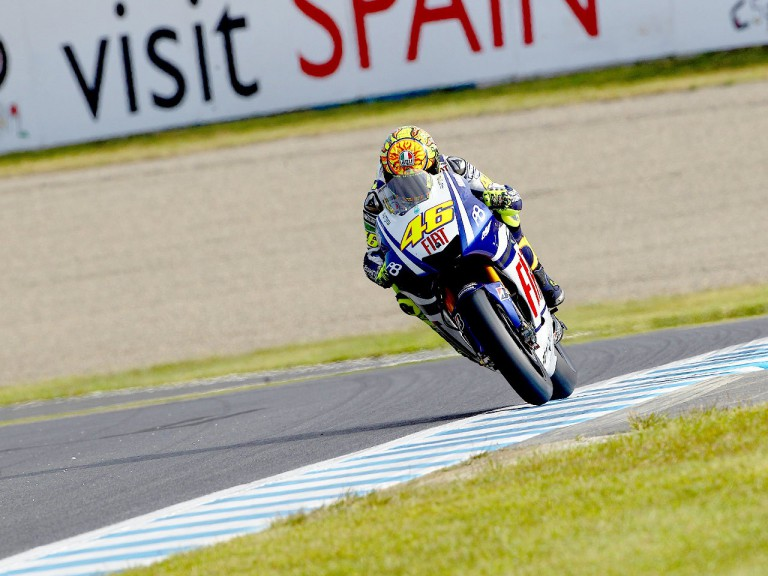 Valentino Rossi in action at Motegi