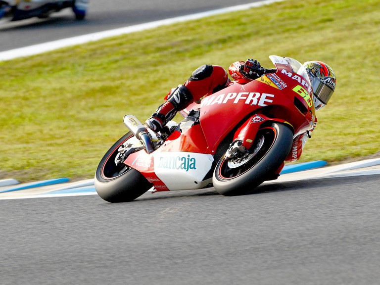 Julián Simón in action at Motegi