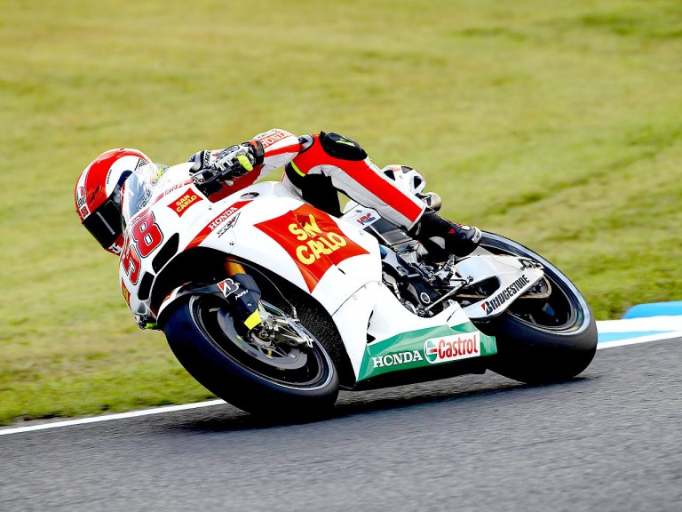 Marco Simoncelli in action at Motegi