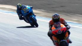 Der WM-Führende war im FT2 zum Grand Prix von Japan um 0,423 Sekunden der Schnellste. Andrea Dovizioso und Valentino Rossi folgten ihm in der letzten Sitzung vor der Qualifikation auf den Fersen.