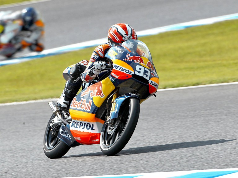 Marc Marquez in action at Motegi