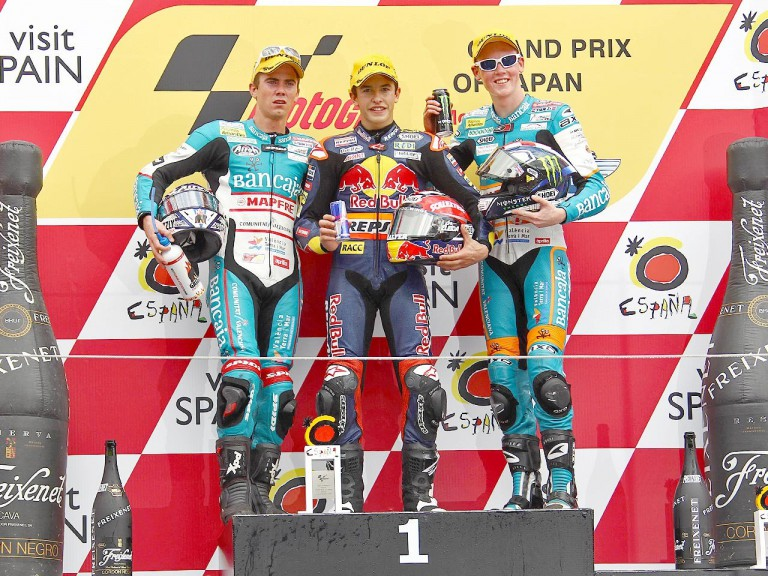 Terol, Marquez and Smith on the podium at Motegi