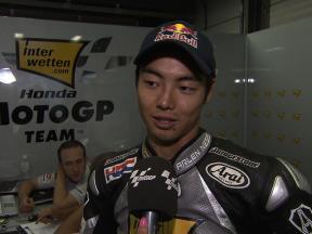 Aoyama on MotoGP home debut